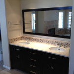 Custom Cabinet and Tile